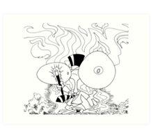 Alien Abracadra Art Print