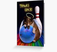 Thanks Coach Angel Sheltie Puppy Greeting Card
