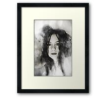 Through the smoke you will see everything Framed Print