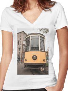 Tram Women's Fitted V-Neck T-Shirt