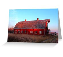 Abandoned Old Red Greeting Card