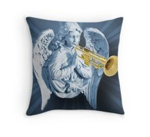 ¨*•♪♫•*¨ANGEL--WHEN THE TRUMPET SOUNDS-DEDICATED TO ANN MY DEEPEST SYMPATHY HUGS¨*•♪♫•*¨ Throw Pillow