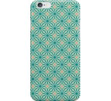 Geometric green and red pattern iPhone Case/Skin
