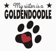 My Sister Is A Goldendoodle Kids Tee