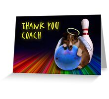 Thank You Coach Angel Sheltie Puppy Greeting Card