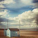 The Blue Beach Hut 2 by Nikki Smith