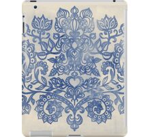 Indigo Blue Denim Ink Doodle iPad Case/Skin