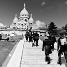 Journey of a thousand steps - Sacre Cour - Paris, France by Norman Repacholi