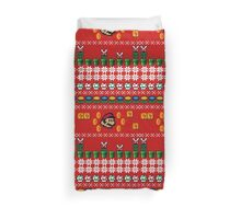 Super Mario Ugly Sweater Duvet Cover