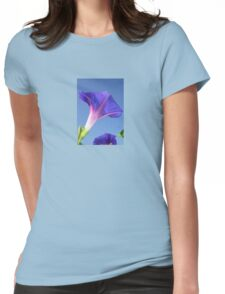 Single Ipomoea Purpurea Against Blue Sky Womens Fitted T-Shirt