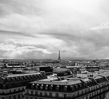 Landmark on the horizon - Eiffel Tower - Paris, France by Norman Repacholi