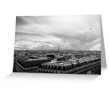 Landmark on the horizon - Eiffel Tower - Paris, France Greeting Card
