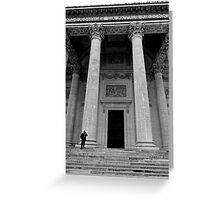Putting the Pantheon in perspective - Paris, France Greeting Card