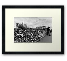 Locking for Love - Paris, France Framed Print