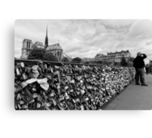 Locking for Love - Paris, France Canvas Print