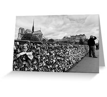 Locking for Love - Paris, France Greeting Card