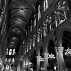 Gathering of the faithful - Notre Dame - Paris, France by Norman Repacholi