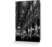 Gathering of the faithful - Notre Dame - Paris, France Greeting Card