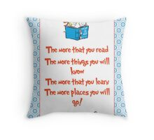 The more you read Throw Pillow
