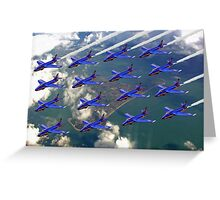 16 Ship Diamond - The Blue Diamonds  Greeting Card