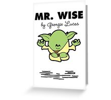 Mr Wise Greeting Card