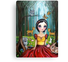 Snow White in the Enchanted Forest Canvas Print