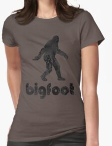 Bigfoot Hi tech camouflage Womens Fitted T-Shirt