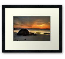 Goscar Rock, Tenby Framed Print