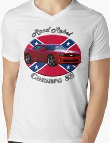 Chevy Camaro SS Road Rebel Mens V-Neck T-Shirt