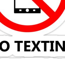 No Texting Sticker