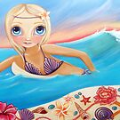 Sunset Surfer by Jaz Higgins
