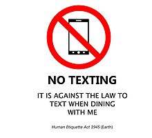 No Texting by iCbf