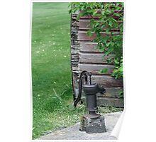Antique Water Pump Poster