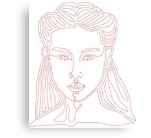 One line face - Lady Canvas Print