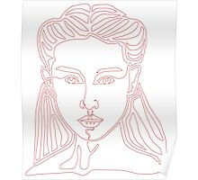One line face - Lady Poster