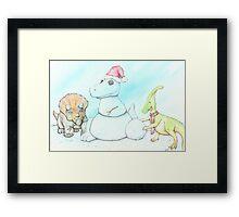Snowasaurus Rex Framed Print