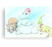 Snowasaurus Rex Canvas Print