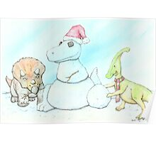 Snowasaurus Rex Poster