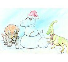 Snowasaurus Rex Photographic Print