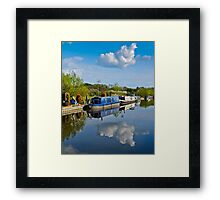 Blue Barge Framed Print