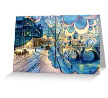 Fantasy Winter in Paris Greeting Card