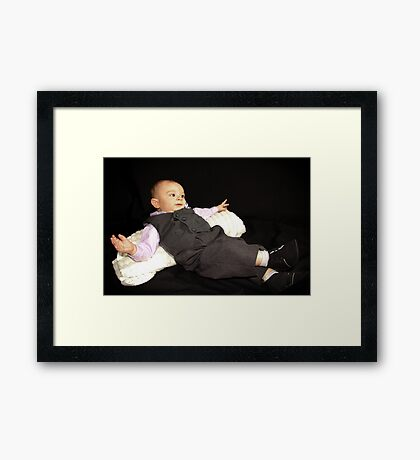 Ollie in his Tux Framed Print