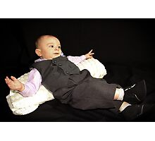 Ollie in his Tux Photographic Print