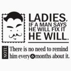 Ladies If A Man Says He Will Fix It He Will Funny T-Shirt by jekonu