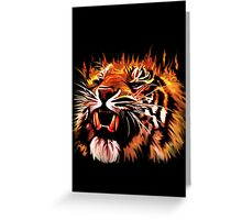 Fire Power Tiger Greeting Card
