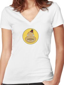 Walrus Logo Women's Fitted V-Neck T-Shirt