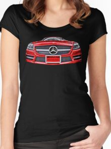 RED MERCEDES BENZ AMG Women's Fitted Scoop T-Shirt