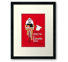 My Vuelta a Espana Minimal poster Framed Print