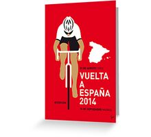 My Vuelta a Espana Minimal poster Greeting Card