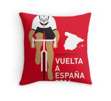 My Vuelta a Espana Minimal poster Throw Pillow
